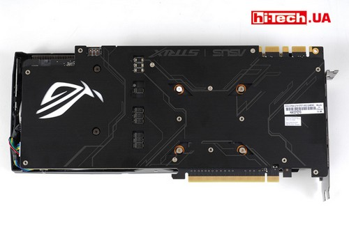 ASUS ROG STRIX GeForce GTX 1070 Ti Advanced edition. Задняя панель