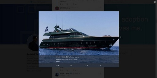 Is this Craig Wright's Yacht?